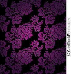 Floral Seamless lilac pattern