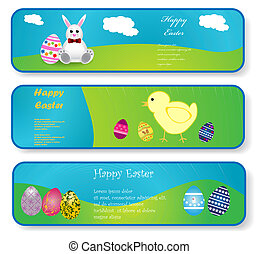 Easter banners - Vector illustration of easter banners
