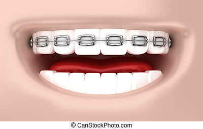 The smile - Illustration of a smile of the person with...