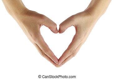Finger heart shape - Finger heart shape