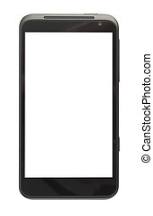 Smartphone With Big Screen - Big black smartphone isolated...