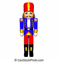 Nutcracker - Illustration of a nutcracker isolated on a...