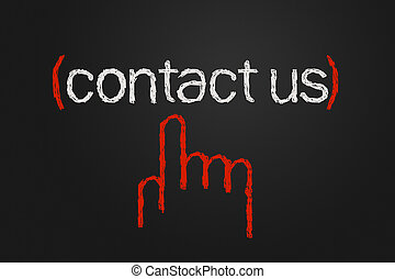 Contact us icon, free hand drawing