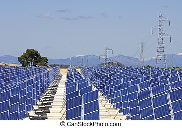 solar energy - photovoltaic panels for renewable electrical...