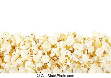 Popcorn border - Popcorn frame isolated on white, clipping...