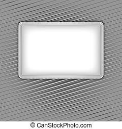 White blank shape on corduroy background