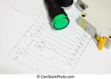 electrical fuse LED indicators on the electrical wiring diagram lighting.