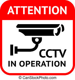 CCTV symbol - Warning Sticker for Security Alarm CCTV Camera...