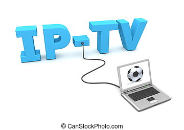 Laptop Wired to IP-TV
