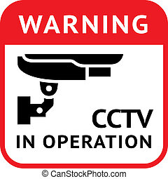 CCTV, pictogram security camera