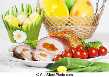 albaricoque, Cerdo, lomo