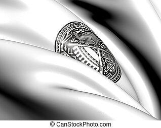 americano, Samoa, cappotto, braccia