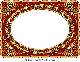 background - dark red background with gold ornaments and...
