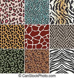 seamless, 動物, 皮膚, パターン