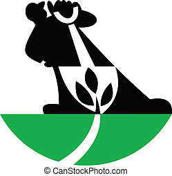 Gardener Landscaper With Shovel Digging Plant - Illustration...
