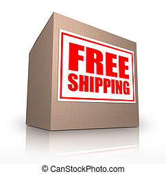Free Shipping Cardboard Box Ship Your Order No Cost - A...