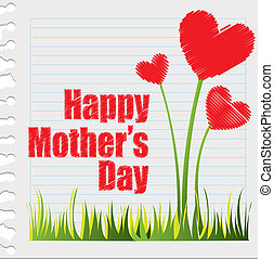 happy mother?s day - hearts flowers, happy mother?s day....