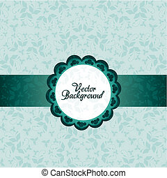Vintage ornament background - blue vintage elegant ornament...