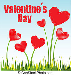 valentines day card on notebook paper, vector