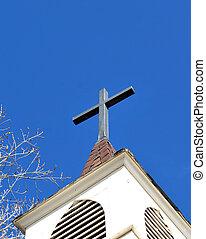 Church steeple - Church steeple in a rural setting