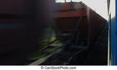 Passing freight train. Loopable.