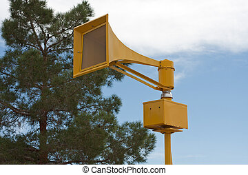 Air Raid Siren - Tornado air raid tsunami siren on pole