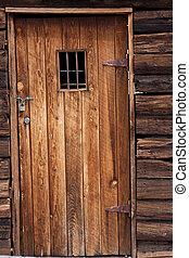 Old western jail door