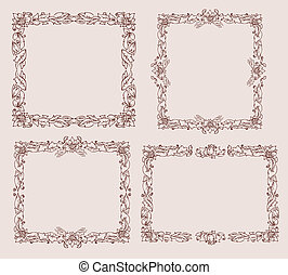 frame with foliate ornament doodles