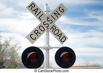 Railroad crossing sign - Vintage Rail Road Crossing Sign...