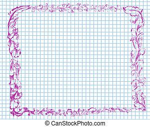 doodle frame on paper