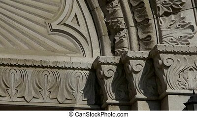 Qingdao Catholic Church's baroque carved stone sculpture.