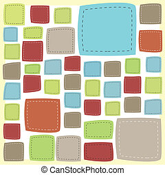 Vector patch frame background