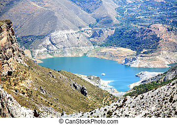 Scenic lake in the park Sierra Nevada Spain