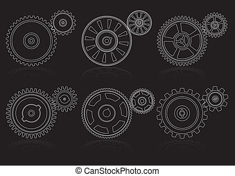 gears outline set A