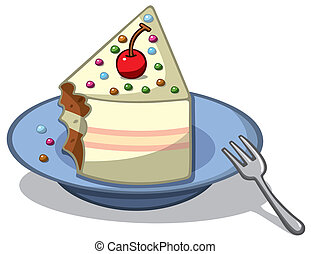 piece of cake - vector illustrator of piece of cake