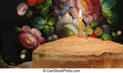 First Birthday Cake. Single candle - First Birthday Cake....