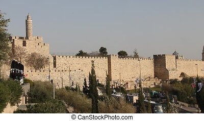 Tower of David.Old town. Jerusalem - Old town. Tower of...