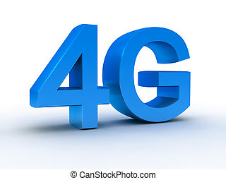 4G latest wireless communication 3d symbol