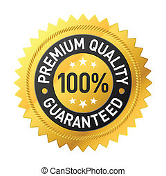 Premium quality label vector illustration
