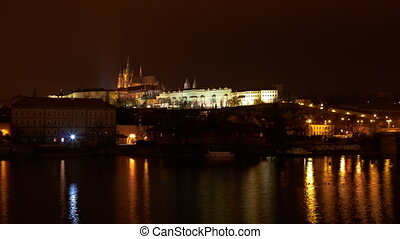 timelapse of Prague castle