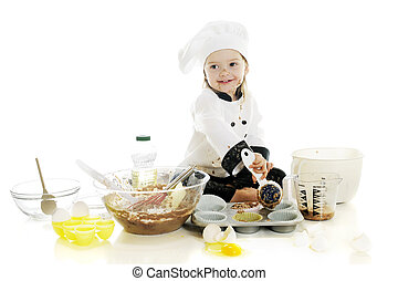 Making Her First Cake