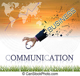 Business wording - art work of business hand withwordind on...