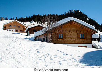 Skiing huts in Montafon