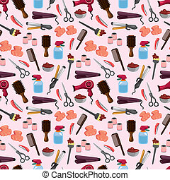 hairdressing KIT seamless pattern