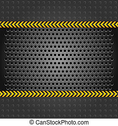 Metallic background template, perforated iron sheet