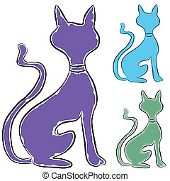 Slinky Cat Profile - An image of a slinky cat profile.