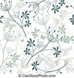 Seamless white floral pattern