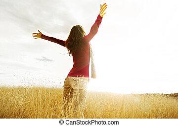 Saudação, Novo, Dia
