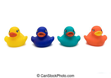 Bathtime Ducks  - Plastic Bath Time Duck Toys