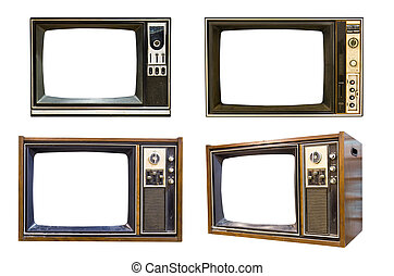 Retro Vintage television 6 - Retro Vintage television on a...